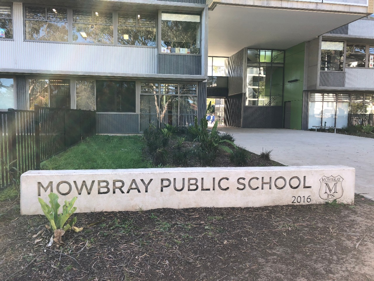 Mowbray Public School engraved block.